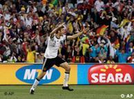 Germany's Thomas Mueller celebrates