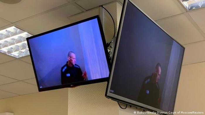 Навальный участвует в заседании суда по видеосвязи (Фото из архива)
