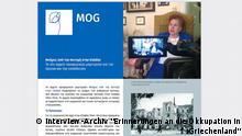 Flyer des MOG auf Griechisch