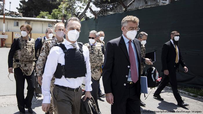وزیر خارجه آلمان هنگام رسیدن به کابل