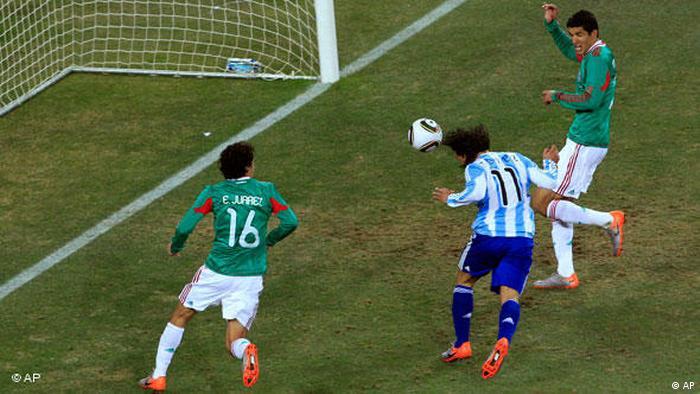 Flash-Galerie Fußball WM 2010 Südafrika Achtelfinale Argentinien vs Mexiko