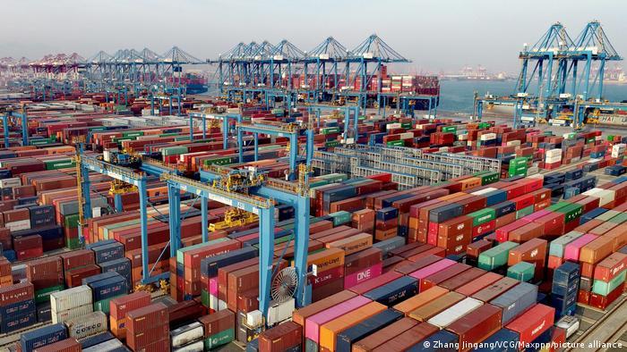 Qingdao port in China
