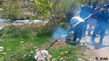 Zusammnstoß zwischen den Dörfbewohnern und Polizisten in Kahman