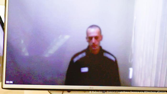 Imagen de Alexéi Navalni en prisión durante su huegla de hambre. (29.04.2021).