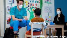 Österreich Lollipop Coronavirus Test für Kinder
