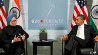 Indien President Manmohan Singh and US President Barack Obama