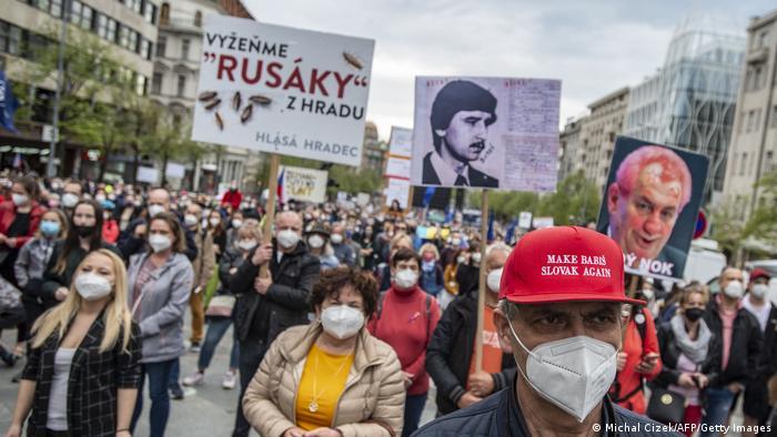 Tschechien Prag | Proteste gegen President Milos Zeman