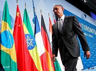 President Obama, flags, G20 Toronto