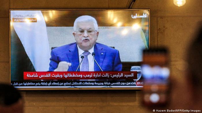 Westjordanland TV Ansprache Mahmud Abbas