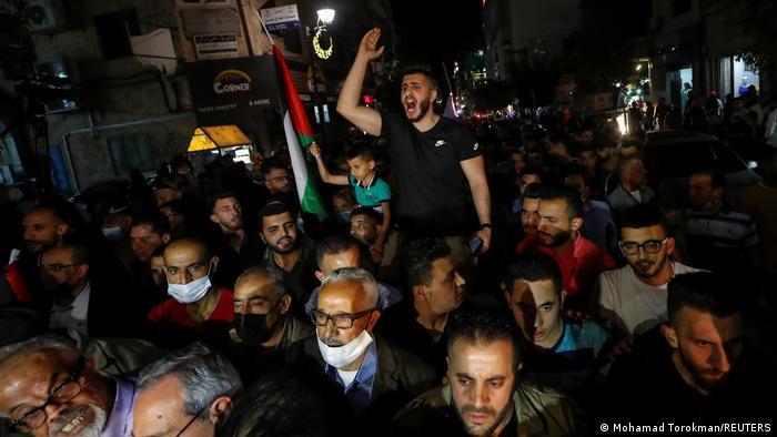 Westjordanland Protest Palästinenser Verschiebung Wahlen