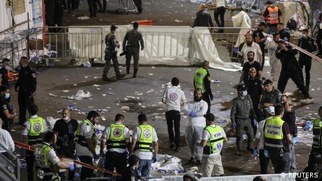 حادث تدافع خلال احتفال ديني في إسرائيل أسفر عن مقتل 44 شخصاً على الأقل
