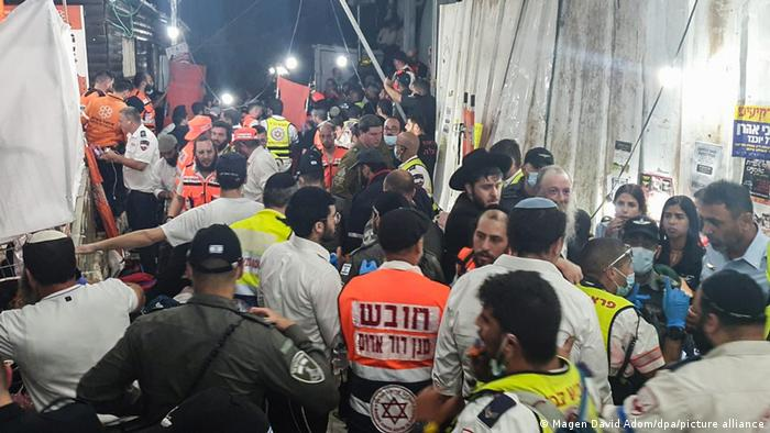 Rescue workers at the Lag B'Omer Jewish gathering in Meron