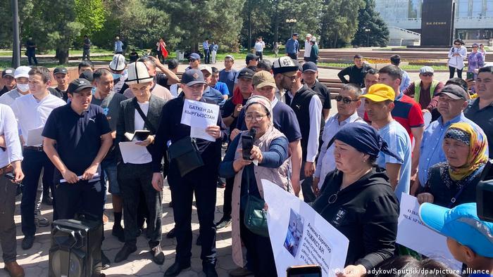 Kirgistan Bischkek | Bürger fordern bei Kundgebung Ende des Grenzkonflikts mit Tadschikistan