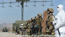 Kirgistan Manöver in Batken Region