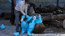 Corona-Pandemie Indien | Jammu Krematorium