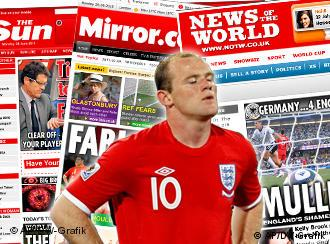 English newspapers and Wayne Rooney