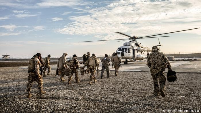 Военнослужащие бундесвера в лагере в афганском городе Кундуз (фото из архива)