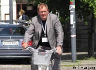 Асмус  Кйелдгаард по дороге на конференцию Velo-City