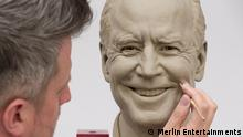 Kamala Harris Will be First Vice President to be Immortalized by Madame Tussauds Wax Museum Madame Tussauds New York Releases Clay Head Sculpture Images of President Joe Biden and Vice President Kamala Harris in Honor of Their 100th Day in Office