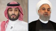 Bildkombo | Mohammed bin Salman und Hassan Rohani