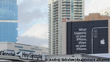 USA Las Vegas | Werbebanner von Google und Apple