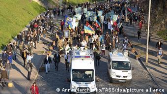 Марш в честь 78-летия дивизии СС Галичина