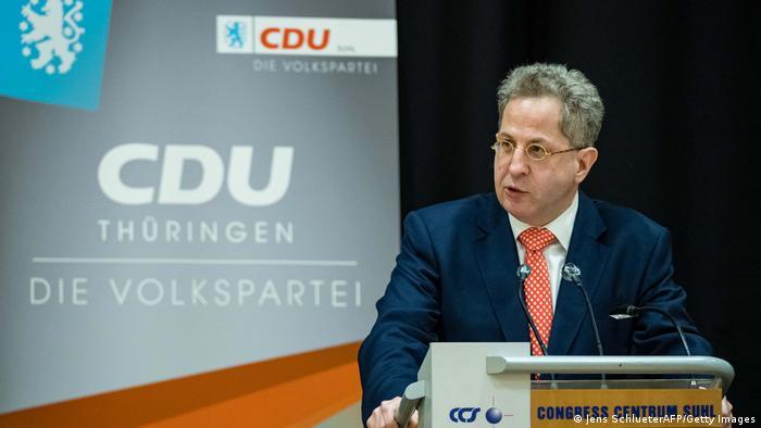 Hans-Georg Maassen speaking at a CDU event