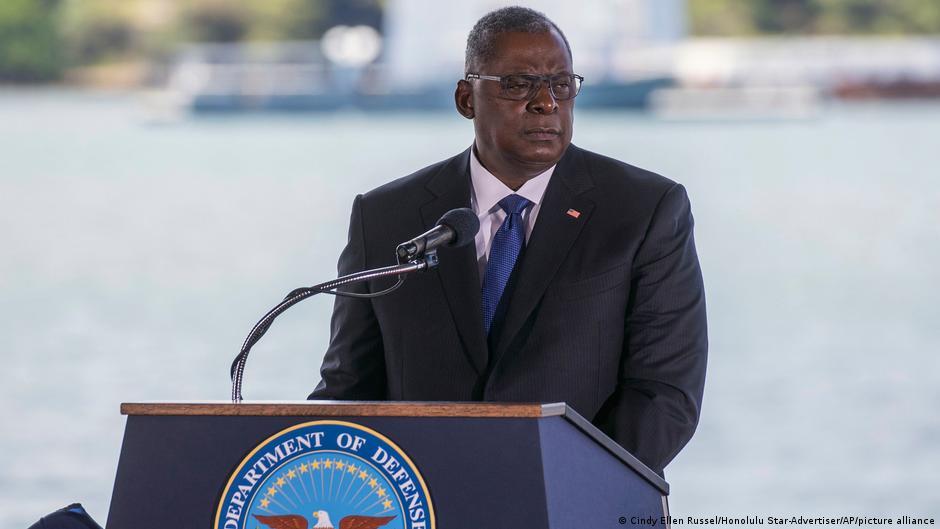 美國國防部長奧斯汀在珍珠港美國印太司令交接儀式上講話