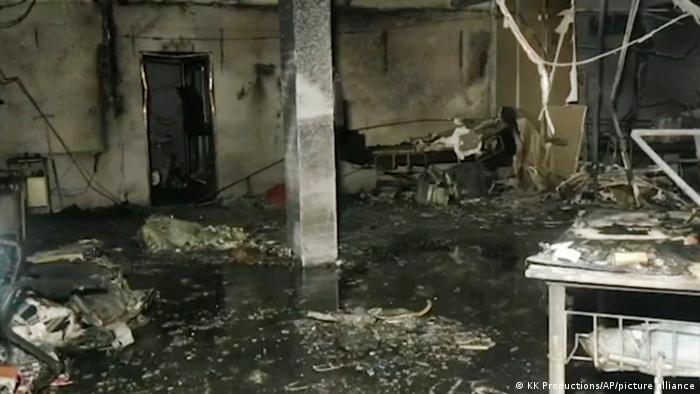 Indien Bharuch | Feuer auf COVID-19 Station in Krankenhaus