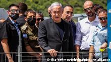 Israel Berg Meron   Benjamin Netanyahu besucht Ort der tödlichen Massenpanik