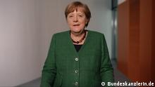 Screenshot Videopodcast Bundeskanzlerin Merkel vom 1.5.2021