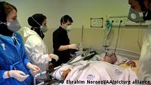 Iran | Coronakrise: Patient im Krankenhaus