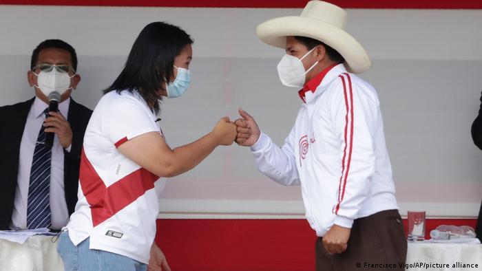 Peru Präsidentendebatte zwischen Pedro Castillo und Keiko Fujimor