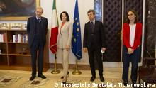 belarussische Oppositionelle Swetlana Tichanowskaja in Rom