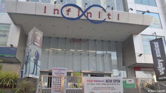 A closed shopping center in Mumbai