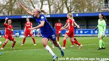 Pernille Harder celebrates a goal