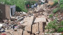 02.05.2021+++At least 9 people killed in Dire Dawa after a concrete wall knocked over by heavy rain fell on three homes (c) Messay Teklu / DW