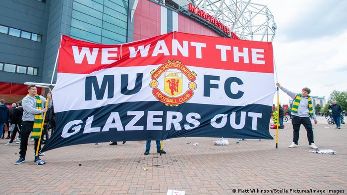 UK Proteste der Manchester United-Fans