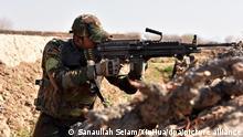 Afghanische Soldaten nehmen an einer Militäroperation teil. Das afghanische Verteidigungsministerium berichtete von zehn getötete Taliban-Kämpfer in Kandahar. +++ dpa-Bildfunk +++