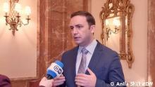 Bujar Osmani, AM von Nordmazedonien im DW Interview, Berlin, 2.5.21, Foto: Anila Shuka/DW