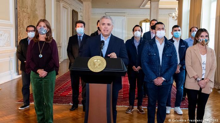 Kolumbien Präsident Ivan Duque zieht Steuerreform zurück