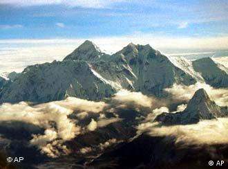 The southern face of Mount Everest, known locally as Sagarmatha