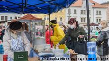 Tschechien Markt Corona