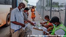 Beitbridge Grenzübergang zwischen Südafrika und Simbabwe