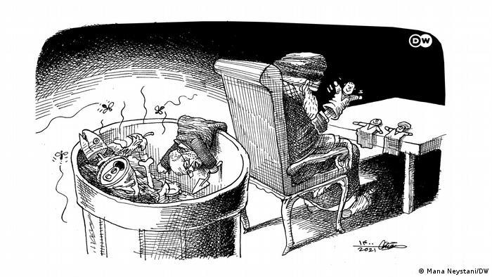DW Karikatur |Außenpolitik im Iran