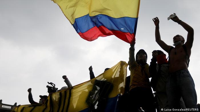 Proteste şi în Columbia