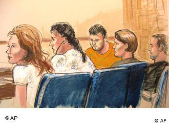 Courtroom sketch of suspected spies