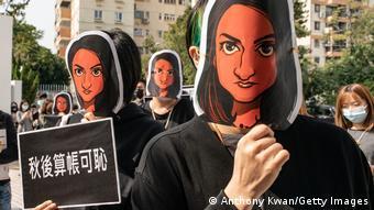 Hongkong Protest und Solidarität mit Nabela Qoser, Journalistin