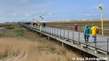 Nordfriesland ist seit dem 1. Mai Modellregion für Tourismus in Deutschland. Dazu gehören auch die Inseln Sylt, Amrum, Föhr und Pellworm. Hoteliers in St. Peter-Ording empfangen Feriengäste unter strengen Auflagen. Maskenpflicht trotz Frischluft auf der Seebrücke