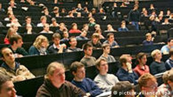 German students in a lecture hall